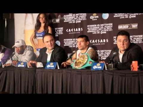 lucas - LAMONT PETERSON v LUCAS MATTHYSSE POST FIGHT PRESS CONFERENCE / BOARDWALK HALL / ATLANTIC CITY.