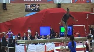 English Gymnastics Champs 2013 Mattis Beam - 12.750, Chan Bars - 11.450, Clements Floor - 12.550