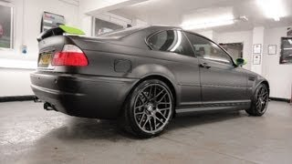 BMW M3 Black Vinyl Wrap