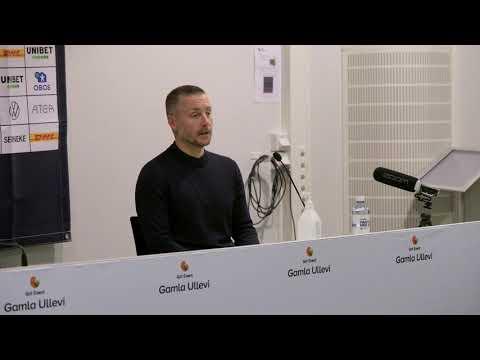 Axel Kjäll från presskonferensen
