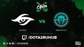 Secret vs Immortals, PGL Open Bucharest, game 1 [DeadAngel, v1lat]