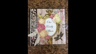 "Mini album  Scrapbook album for sale by Shellie Geigle of J & S Hobbies and Crafts. This mini album is a 6-1/2"" x 6-1/2"" size using a Hobby Lobby Kirby Teesdale paper.  One is available at https://jshobbiesandcrafts.com/?product_cat=mini-albums-crafts"