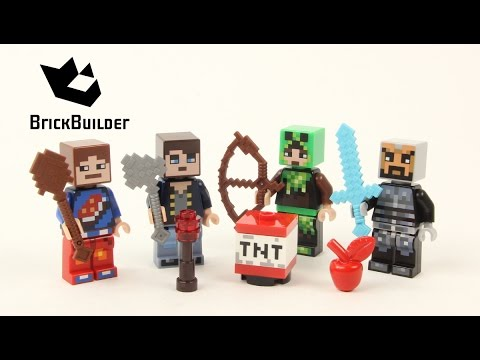 Vidéo LEGO Minecraft 853609 : Assortiment d'habillages 1