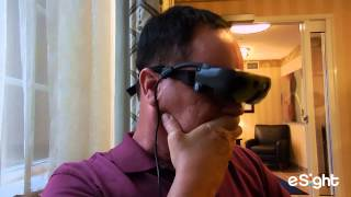 Legally blind man can see for the first time.