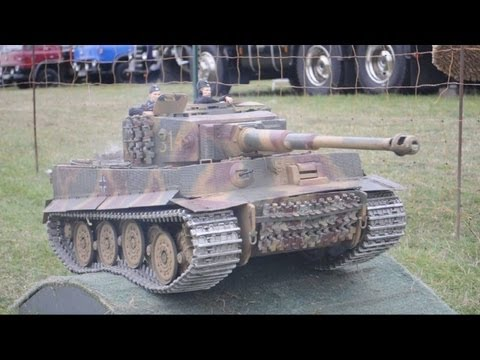 model vehicles - Photos of this event can be found here: http://rhobbs.co.uk/au2 Remote control model tanks and other military vehicles roaming around at Kettering Vintage Ra...