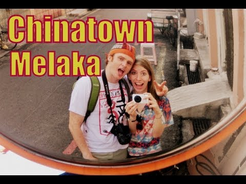 Visiting Chinatown in Malacca, Malaysia