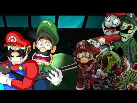 MARIO & LUIGI THE ZOMBIE KILLERS! (Super Mario Horror Mod L4D2) PLUMBERHOOD MOD BY Midnight Wastes