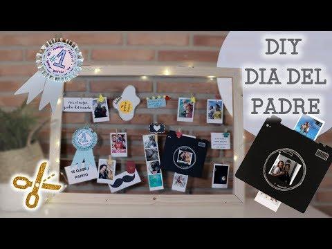 DIY día del padre - Cuadro de recuerdos para hacer en familia