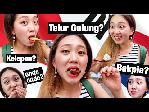 Korean Tried Indonesian Street Food Part2 || Yogyakarta Vlog🇮🇩