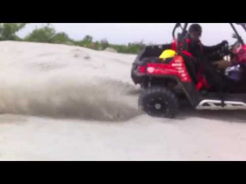 Polaris RZR 570 on Danube Dunes