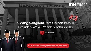 Download Video LIVE STREAMING - SIDANG KETIGA SENGKETA PERSELISIHAN HASIL PEMILU 2019 MP3 3GP MP4