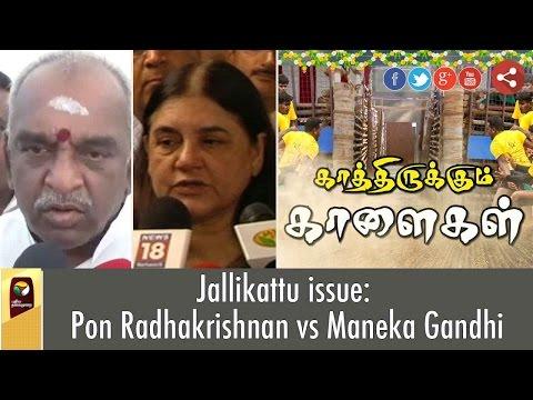 Jallikattu-issue-Pon-Radhakrishnan-vs-Maneka-Gandhi