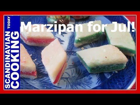 Marzipan Candy for Jul – An Old Fashion & Easy Christmas Candy Recipe – Petit Fours