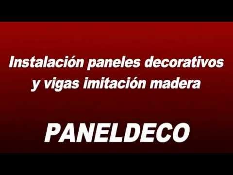 Instalación Panel Decorativo y Vigas imitación madera Paneldeco