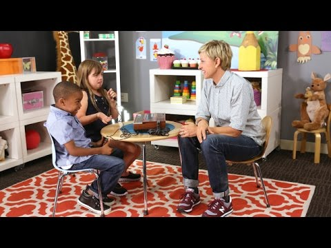 Ellen Introducing Kids to Technology of Yesterday