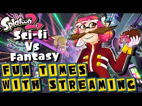 Fun Times With Streaming! Sci-fi Vs Fantasy Splatfest and Private Battles! (Team Sci-fi) (видео)