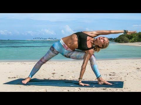 Ultimate Yoga Workout ♥ Astanga Inspired Intermediate Class  Maldives