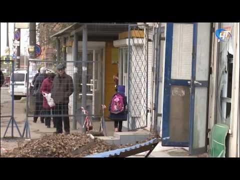 В Великом Новгороде сносят торговые павильоны