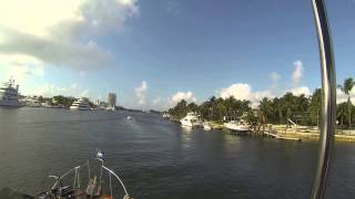Passing Bahia Mar in FT Lauderdale on the ICW.