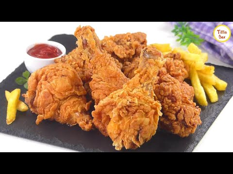 KFC style Fried Chicken Recipe by Tiffin Box   Kentucky Fried Chicken, Spicy Crispy chicken fry