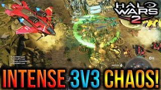 Halo Wars 2 - Intense 3v3 Chaos! :O * * Subscribe for new secret hidden halo wars 2 HW glitches easter eggs rush strategy 3v3 2v2 1v1 guides deathmatch blitz ...