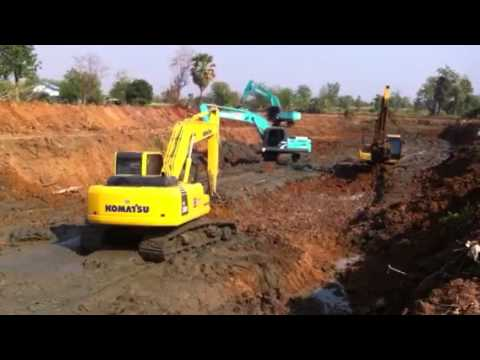 Komatsu Excavator pc 200-8 ลอกคลอง by suttana immortal man