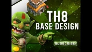Clash of Clans - TH8 Town Hall 8 Base Design - High Level Base - Timelapse