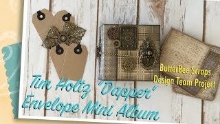 Hello everyone! I'm super excited to share my design team project for ButterBee Scraps! I used the Tim Holtz