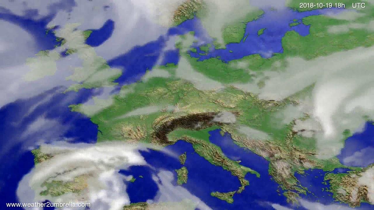 Cloud forecast Europe 2018-10-16