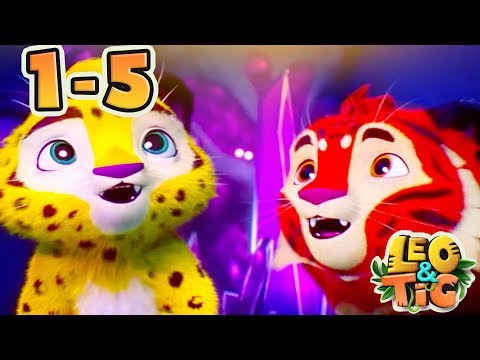 Leo and Tig - All episodes compilation (1-5)  Good Animated Movies 2017 for kids - Moolt Kids Toons