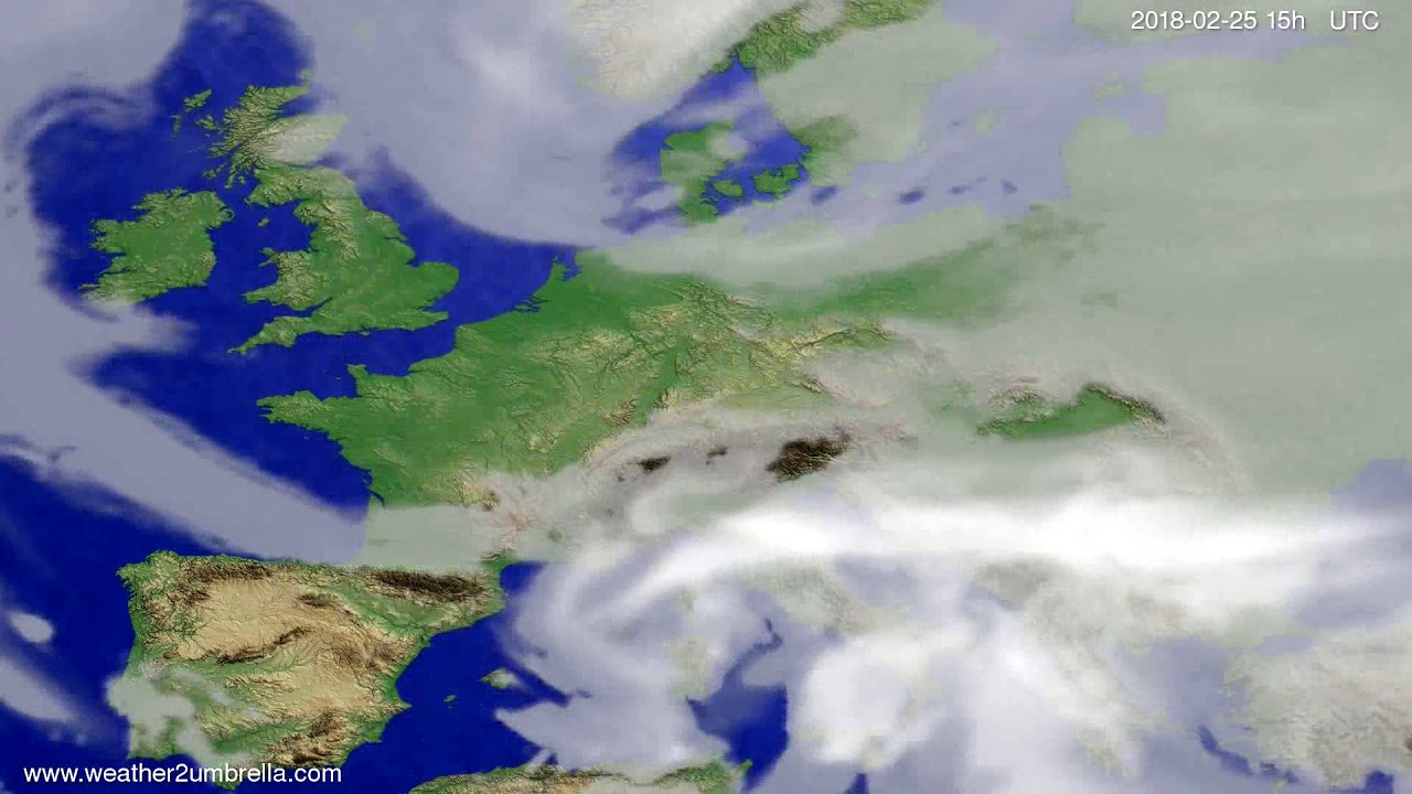 Cloud forecast Europe 2018-02-23