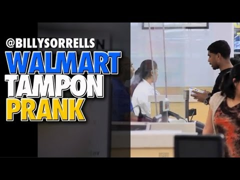 Sorrells - Billy Sorrells goes to a Wal-Mart ® pharmacy and complains about issues with a tampon. For more laughs go to http://www.BillySorrells.com Follow us on Twitte...
