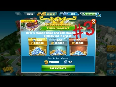 Cooking Fever - Level 3 Fast Food Court Tournament Mission Completed