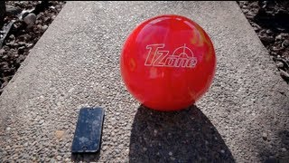 iPhone 5 Bowling Ball Drop Test - Ultimate Destruction Crash Test -