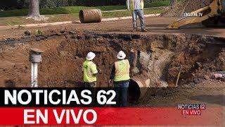 Se rompe tubería de agua en Riverside – Noticias 62 - Thumbnail