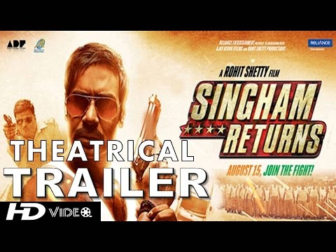 Watch the official trailer of the action-packed Singham Returns starring Ajay Devgn