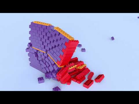 LEGO destruction - slow motion