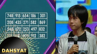 Video Dominic Brian anak pemecah rekor penghafal angka [Dahsyat] [15 Des 2015] MP3, 3GP, MP4, WEBM, AVI, FLV April 2019