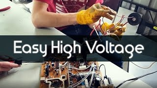 How to Make a 20,000 Volt Jacob's Ladder (Sort of)
