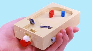 How to build a mini Lego pinball machine that works!