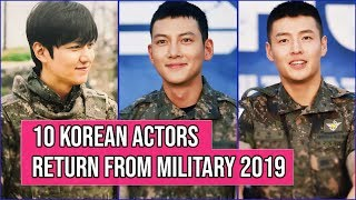 Video 10 Korean Actors Who Will Return From The Military In 2019 MP3, 3GP, MP4, WEBM, AVI, FLV Februari 2019