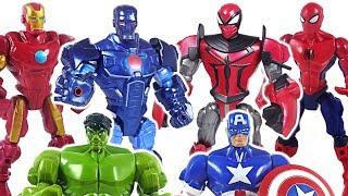 Video Marvel Mashers Avengers Spider Knight, Stealth Iron Man, Hulk! Defeat dinosaur! #DuDuPopTOY MP3, 3GP, MP4, WEBM, AVI, FLV September 2018