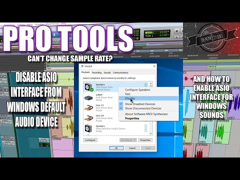 HOW TO DISABLE (or enable) ASIO INTERFACE FOR WINDOWS/PC SOUNDS