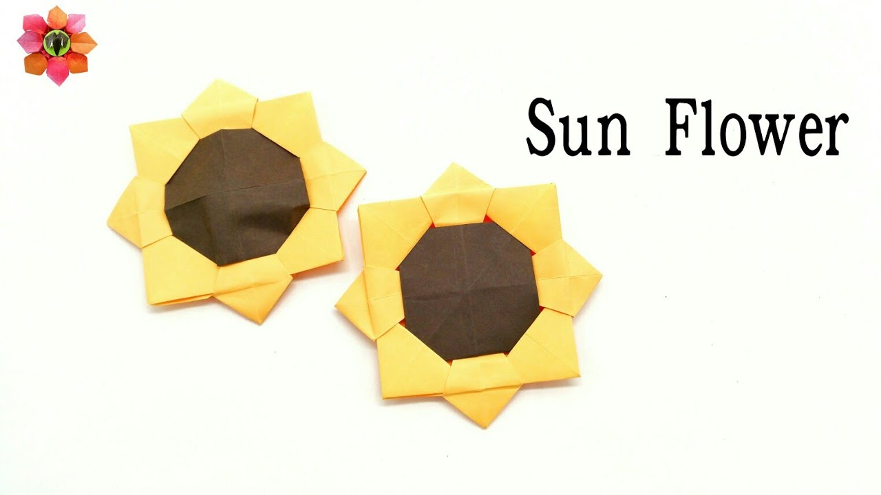 Flowers paperfolds origami arts and crafts sunflower diy origami tutorial jeuxipadfo Gallery