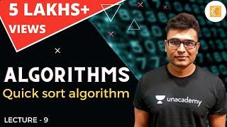 Algorithms lecture 9 -- Quick sort algorithm