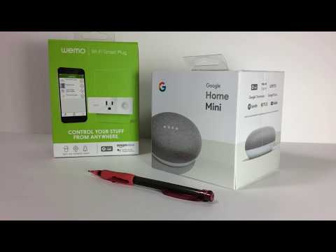 Google Home Mini How to Add a Device and Setup Wemo Smart Plug