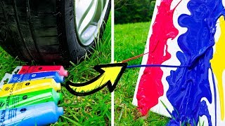 Car does Art! 15 DIY Projects Made by a Car!