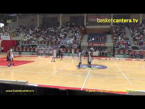 2ª Parte FINAL Cadete BARCELONA vs REAL MADRID.- Cpto. España 2014 (BasketCantera.tv)