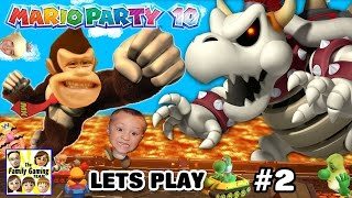 Lets Play MARIO PARTY 10! Dry Bowser Boss Battle in Chaos Castle (FGTEEV FAMILY GAMEPLAY Part 2)