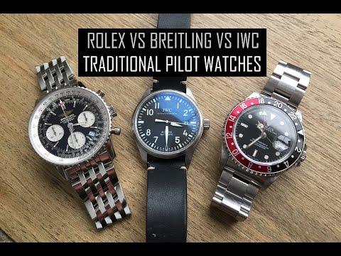 Rolex vs Breitling vs IWC - Classic Pilot Watches_A valaha feltöltött legjobb karóra videók